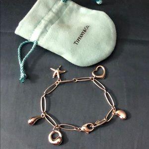 Tiffany sterling silver charm bracelet